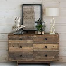 Reclaimed Wood Vanity Table Emmerson Reclaimed Wood 6 Drawer Dresser Natural West Elm
