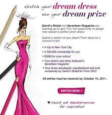davidsbridal and seventeenmag prom dress sketch contest