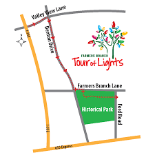 Dallas Galleria Map Christmas Tour Of Lights In Farmers Branch Tx