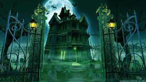 scary halloween background hd halloween scary house wallpaper
