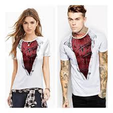 Matching Halloween Costumes Friends Funny Matching Superhero Spiderman Print Shirts Women