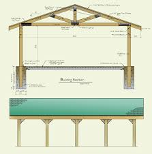 22x30 picnic shelter also idea for shoring up barn rafters pond