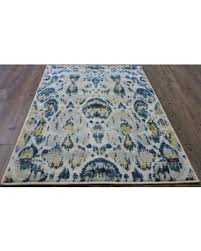 amazing deal on blue and yellow abstract area rug 5 u0027 x 8 u0027 63