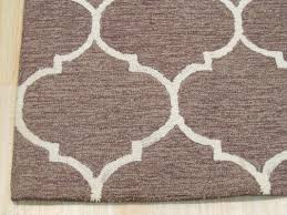 Light Brown Area Rugs Eastern Rugs Moroccan Wool Traditional Trellis Hand Tufted Light