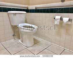 handicap bathroom grab bars on walls stock photo 72462472