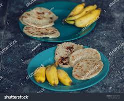 id cuisine simple simple breakfast two indian roti stock photo 1007941492