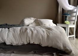 rustic rough ivory linen duvet cover
