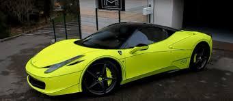 Ferrari 458 Colors - ferrari 458 tron wrap is a bit like porsche u0027s acid green