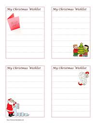 christmas wish list christmas wish list clipart 29