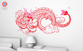 dragon xl wall decal nursery kids rooms wall decals kids room lucky dragon wall decals xl