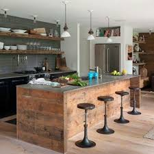 image ilot de cuisine mobilier pas cher 21 idées avec des palettes en bois ilot de