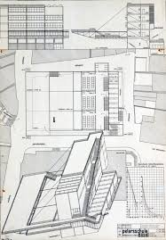 Bauhaus Floor Plan Comepetition Design For The Petersschule Basel 1926 Draft