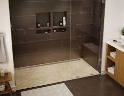bodenbelã ge badezimmer ebenerdige dusche in 55 attraktiven modernen badezimmern