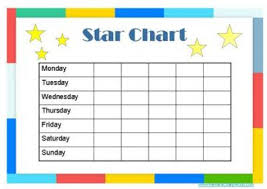 free printable reward charts for kidssample star chart template