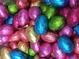 easter eggs solid milk chocolate foil easter eggs x 500g approx 100 eggs