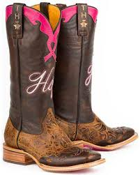 tin haul hope staying strong ladies brown leather cowboy boots 7