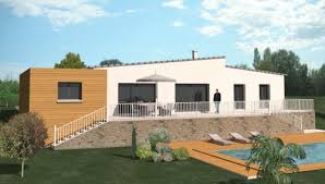 plan maison contemporaine plain pied 3 chambres construction 86 fr plan maison contemporaine de plain pied type 5