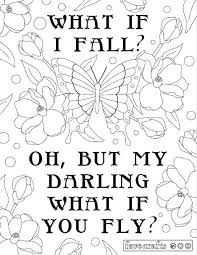 printable coloring quote pages for adults inspirational free adult printable coloring pages and what if your