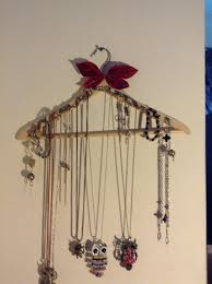 holder necklace images How to make easy necklace holder out of a hanger snapguide jpg
