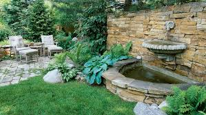 Water Fountains For Backyards Great Garden Fountain Ideas Sunset