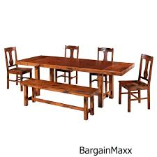 dirty oak wood dining room set kitchen table dining chairs 6 piece