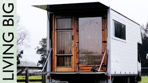 tiny house big living living simply in a wonderful tiny house truck youtube