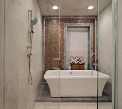 the best bathroom shower combo 23840 bathroom ideas transitional spa bathroom and shower combo features freestanding bathtub image 16 of 16
