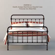 Inspire Q Beds by Inspire Q Metal Bed 3d Cgtrader