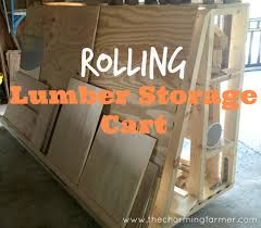 Wood Storage Rack Plans by Diy Rolling Lumber Storage Cart