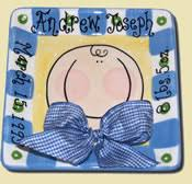personalized baby birth plates personalized baby baptism plates and tiles personalized baby