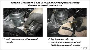 toyota tacoma how to bleed air out of power steering pump yotatech
