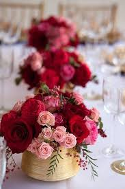 Red Rose Table Centerpieces by Get Creative With Vases Creative Wedding And Gold Wedding