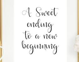 wedding quotes new beginnings wedding cupcake sign etsy