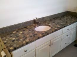 river rock bathroom ideas river rock countertops river rock vanity concrete countertop