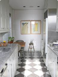 Black And White Laminate Flooring Black White Checkered Laminate Flooring With Kitchen Cabinet And