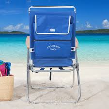 Rio 5 Position Backpack Chair Rio Blue Hi Boy Backpack Beach Chair With Cooler Hayneedle