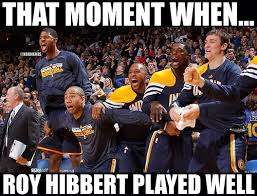 Roy Hibbert Memes - roy hibbert with 28 points 8 rebounds for the indiana http