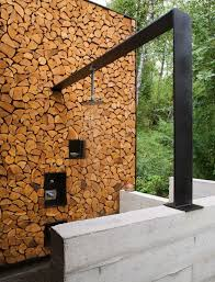 outdoor wood wall contemporary patio with exterior floors by lukas machnik