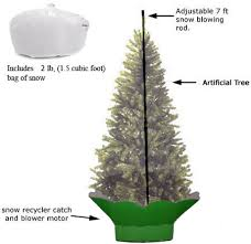 let it snow machine supports an artificial tree up to 7 1 2 in