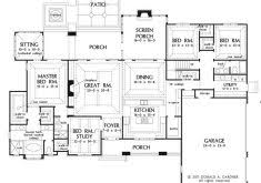 one house plans with large kitchens craftsman house plans house scheme