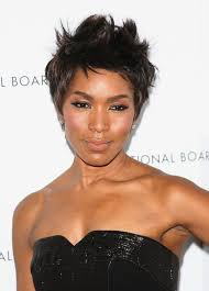 hairstyles for black women over 50 pictures angela bassett short spiked pixie haircut for black women over 50