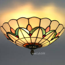 Stained Glass Ceiling Light Stained Glass Ceiling Light Fixture Ebay