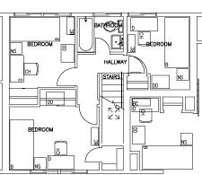 Floor Plan Of 3 Bedroom Flat Escondido Village Lowrise Apartments Stanford R U0026de
