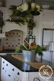 Farmhouse Kitchen Island Christmas Farmhouse Kitchen Stonegable