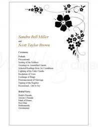 wedding program outline template printable sweet pea wedding program template