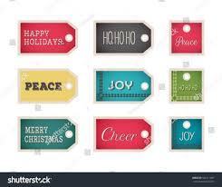 christmas gift tags template set vector stock vector 528111067