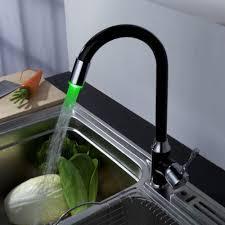 2017 8054 4 swivel black kitchen sink vessel led colors changing