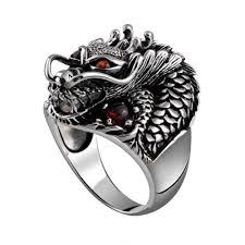 fashion rings men images 2018 titanium steel fashion personality dragon ruby ring men in jpg