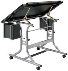 Alvin Drafting Table Alvin Craftsmaster Ii Glass Top Deluxe Drawing Table Rex