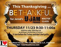 thanksgiving u jam fitness masterclass heartbeat house